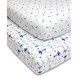 The Peanutshell™ Rocket Star Fitted Crib Sheets (2-Pack)