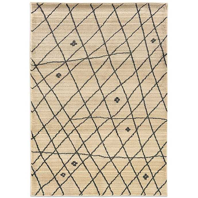 Alternate image 1 for Oriental Weavers™ Marrakesh Contemporary Grid 7-Foot 10-Inch x 11-Foot Rug in Ivory