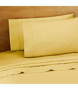 Set de sábanas queen de algodón de 220 hilos en amarillo