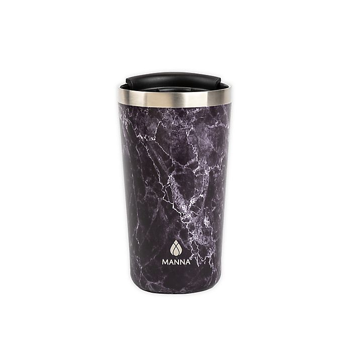 Alternate image 1 for Manna™ 18 oz. Ranger Pint Travel Mug in Black Marble