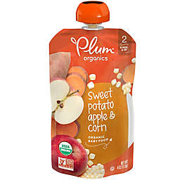 Plum Organics™ Second Blends™ Sweet Potato, Corn and Apple Baby Food Pouch