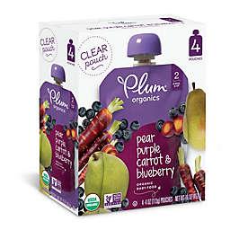 Plum Organics® 4-Pack Blueberry Pear Purple Carot 4 oz.Baby Food