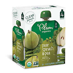 Plum Organics® 4-Pack Spinach Pease Pear 4 oz.Baby Food