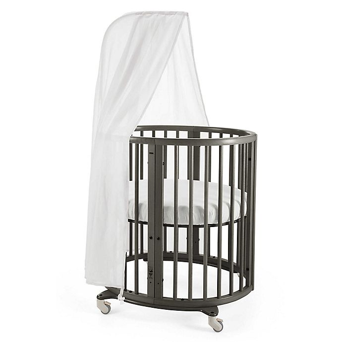 Alternate image 1 for Stokke® Sleepi™ Mini with Drape Rod and Mattress in Hazy Grey