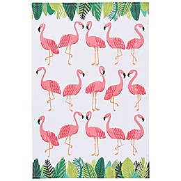 Now Designs™ Flamingo Tea Towel in Pink/White