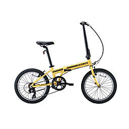 ZiZZO® Campo 20-Inch 7-Speed Folding Bicycle in Yellow