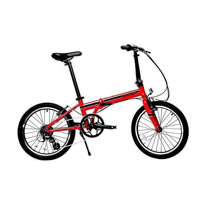 Alternate image 1 for ZiZZO Urbano 20-Inch 8-Speed Folding Bicycle