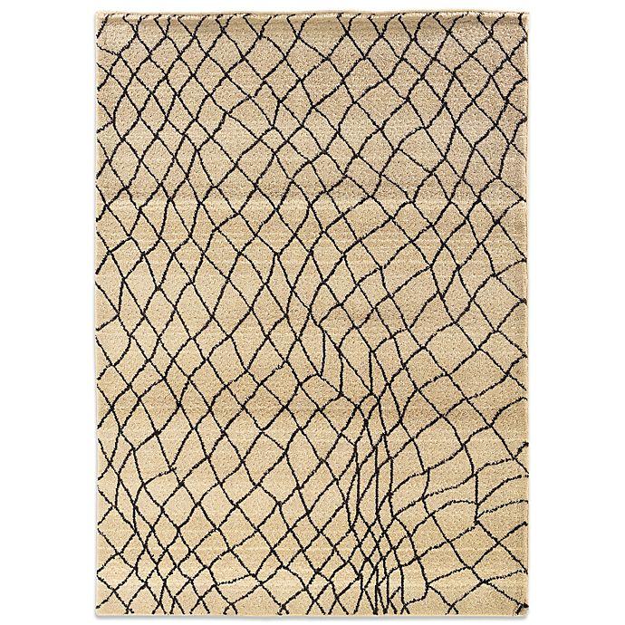 Alternate image 1 for Oriental Weavers™ Marrakesh Fishnet 6-Foot 7-Inch x 9-Foot 1-Inch Rug in Ivory