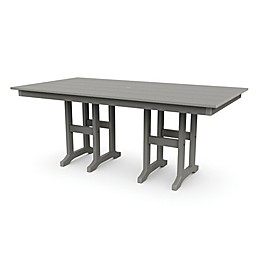 POLYWOOD® Lakeside 72-Inch Dining Table in Slate Grey