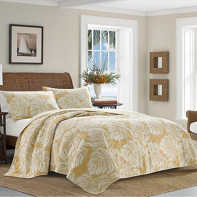 Alternate image 1 for Tommy Bahama® Bernardino Reversible Quilt Set in Ochre