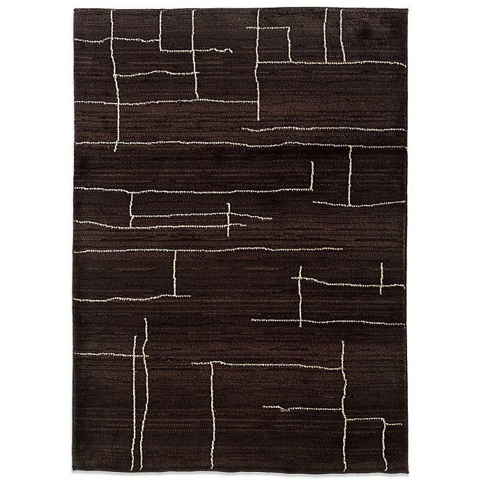 Alternate image 1 for Oriental Weavers™ Marrakesh Broken Lines 7-Foot 10-Inch x 11-Foot Rug in Brown