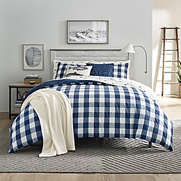 Eddie Bauer® Lakehouse Plaid Reversible Duvet Set in Blue
