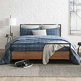 Kenneth Cole New York Holden Grid Duvet Set in Indigo