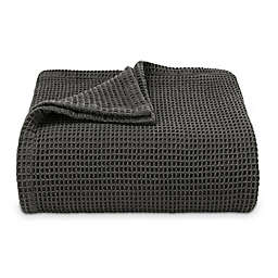 Vera Wang® Waffleweave Blanket in Charcoal
