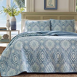 Tommy Bahama® Turtle Cove Quilt Set in Caribbean Blue