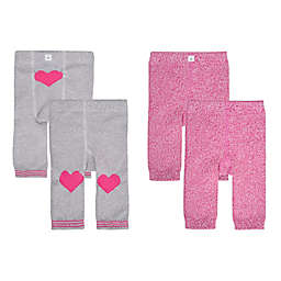 Cuddl Duds® Size 0-6M 2-Pack Heart Knit Leggings in Pink