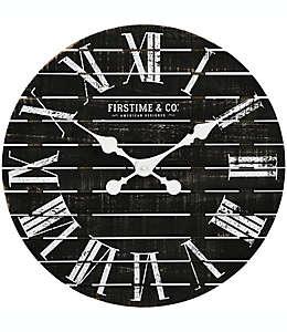 Reloj de pared FirsTime & Co.® Nightfall Shiplap de 45.72 cm en negro