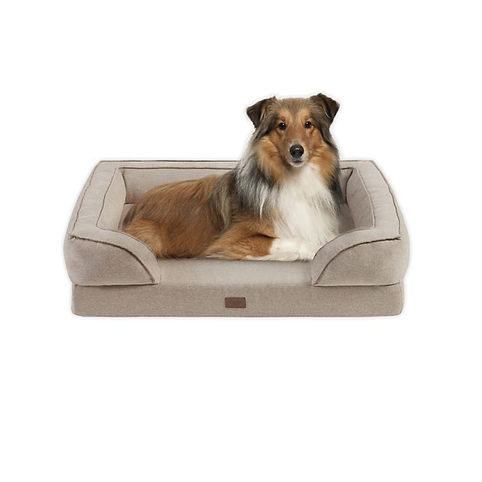 Alternate image 1 for Martha Stewart Bella Large Memory Foam Dog Couch in Tan