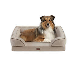Martha Stewart Bella Large Memory Foam Dog Couch in Tan