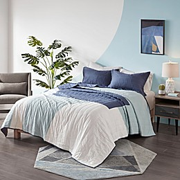 Urban Habitat Albany Reversible Cotton Printed Coverlet Set