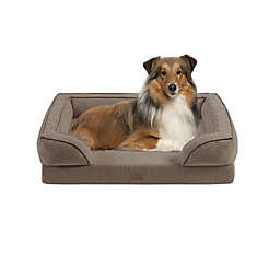 Martha Stewart Bella Large Memory Foam Dog Couch in Brown