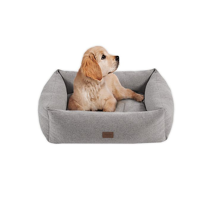 Alternate image 1 for Martha Stewart Charlie Medium 4-Sided Bolster Dog Bed in Grey
