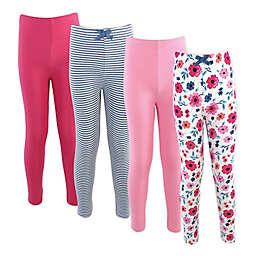 Touched by Nature® Size 9-12M 4-Pack Floral Organic Cotton Leggings
