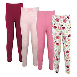 Touched by Nature® Size 12-18M 4-Pack Botanical Organic Cotton Leggings