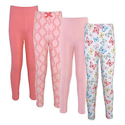 Touched by Nature® Size 9-12M 4-Pack Butterflies Organic Cotton Leggings