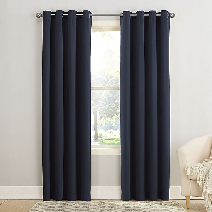 Alternate image 1 for Sun Zero® Bella Grommet Window Curtain Panel in Mineral