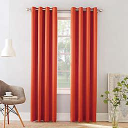 Sun Zero® Bella 63-Inch Grommet Window Curtain Panel in Tangerine (Single)