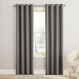 Sun Zero® Bella 108-Inch Grommet Window Curtain Panel in Steel (Single)