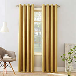 Sun Zero® Bella 63-Inch Grommet Window Curtain Panel in Flax