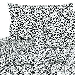 SALT™ Cheetah 100% Cotton California King Sheet Set