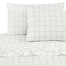 SALT™ Window Dash 100% Cotton 144-Thread-Count California King Sheet Set in Silver