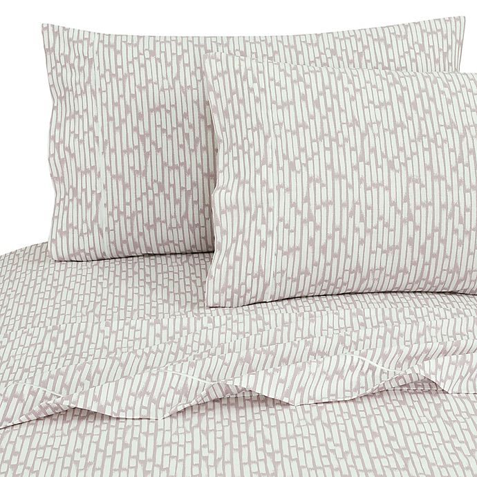 Alternate image 1 for SALT™ Brush 100% Cotton Queen Sheet Set in Iris