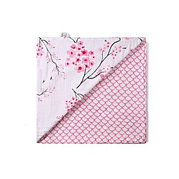 Malabar Baby Cherry Blossom Certified Organic Cotton Blanket