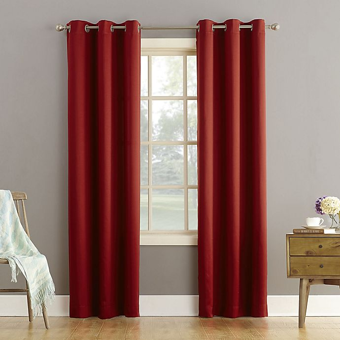 Alternate image 1 for Sun Zero® Bella Grommet Room Darkening Curtain Panel