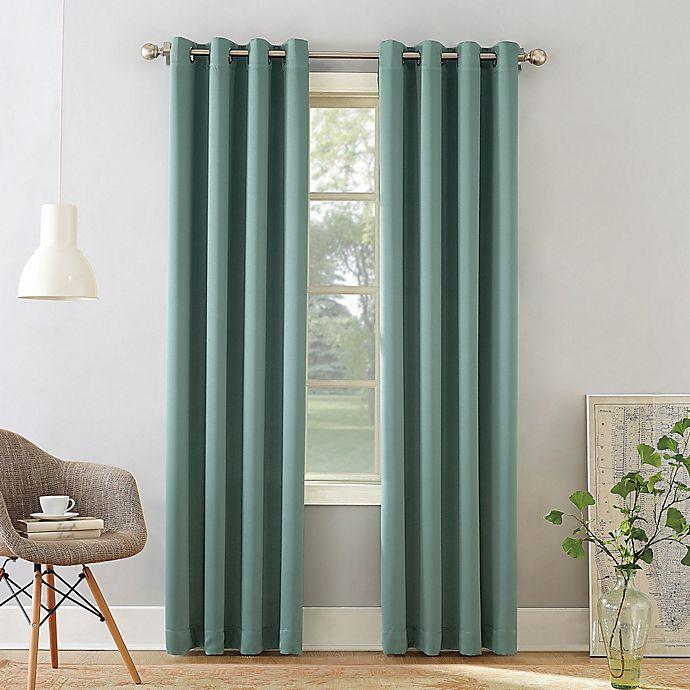 Alternate image 1 for Sun Zero® Bella 95-Inch Grommet Curtain in Mineral