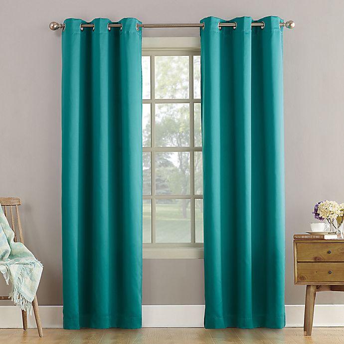 Alternate image 1 for Sun Zero® Bella 95-Inch Grommet Curtain in Marine