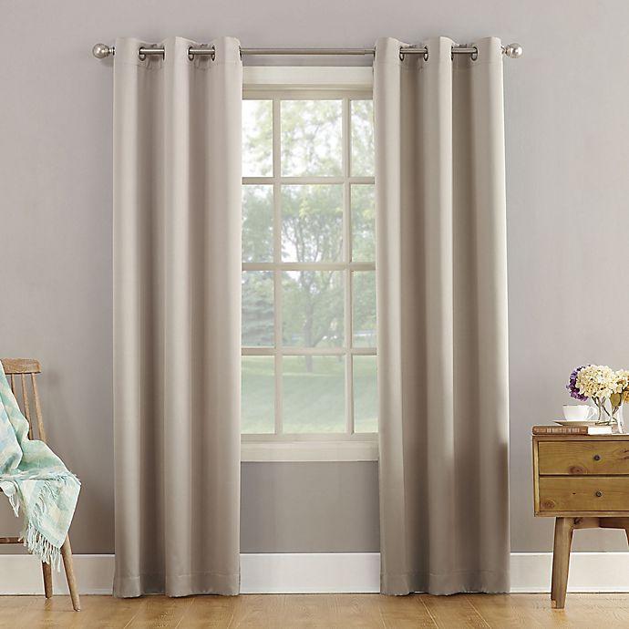 Alternate image 1 for Sun Zero® Bella 108-Inch Grommet Curtain in Stone