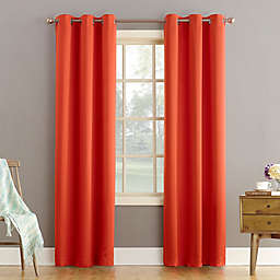 Sun Zero® Bella 95-Inch Grommet Curtain Panel in Tangerine (Single)