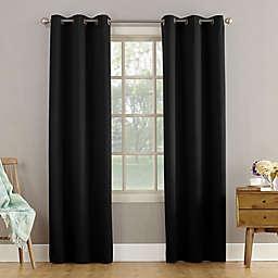 Sun Zero® Bella 63-Inch Grommet Curtain Panel in Black (Single)