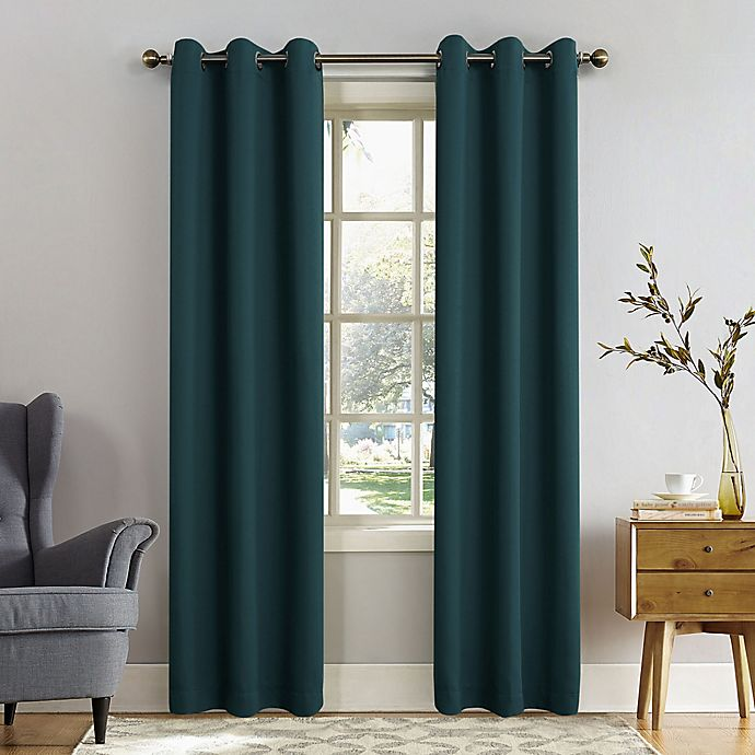 Alternate image 1 for Sun Zero® Mariah 108-Inch Grommet Curtain in Teal