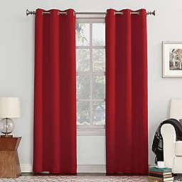 Sun Zero® Mariah 84-Inch Grommet Curtain in Red