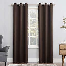 Sun Zero® Mariah 84-Inch Grommet Curtain Panel in Cocoa (Single)