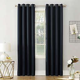 Sun Zero® Saxon Energy Saving Room Darkening Grommet Window Curtain Panel