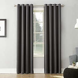 Sun Zero® Saxon 84-Inch Grommet Curtain Panel in Charcoal (Single)
