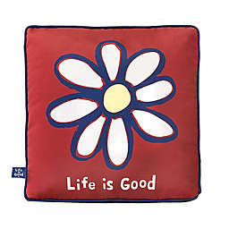 Life is Good® Daisy Toss Pillow in Red