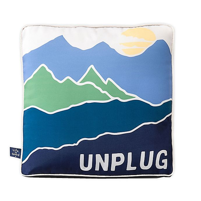 Alternate image 1 for Life is Good® Unplug Toss Pillow in Blue